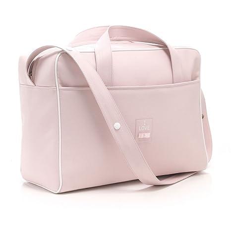 4442d4373 Cambrass Chic - Bolso maternal tipo maletín, color rosa: Amazon.es: Bebé
