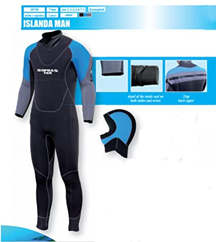 03a95b4bf1 Image Unavailable. Image not available for. Color  Sopras Sub Islanda 7mm  Semi-dry Men s Wetsuit ...