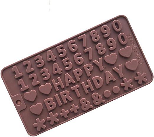 Witkey 2 Pack Happy Birthday números símbolos silicona ...