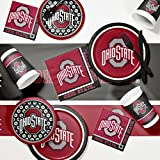 NCAA Ohio State University Game Day Party Supplies Kit