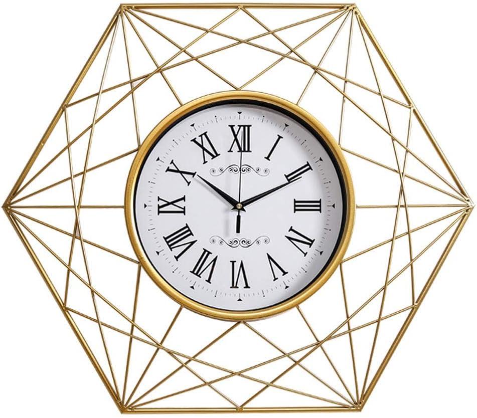 ファッション装飾掛け時計 ヴィンテージウォールクロックリビングルームクリエイティブアートクロックホームファッションの高級クォーツ時計ミュート時計