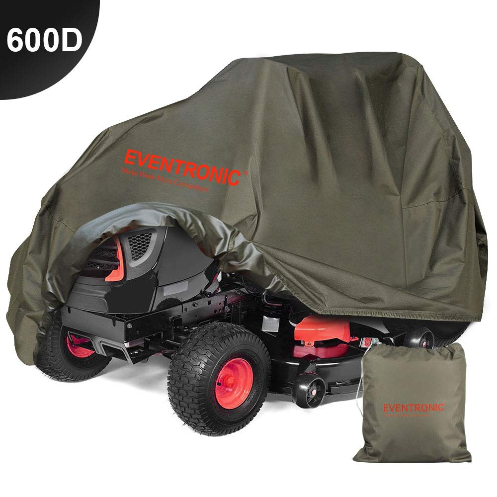 Eventronic Riding Lawn Mower Cover, Riding Lawn Tractor Cover 600D Heavy Duty Durable (L76 xW47 xH47)