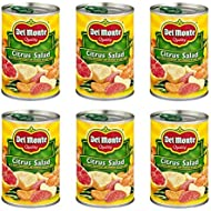 Del Monte Citrus Salad Red & White Grapefruit & Orange Sections In Light Syrup 15-oz (Pack of 6)
