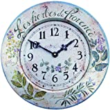 Roger Lascelles French Tin Herb Wall Clock, 14.2-Inch