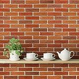 DeStudio 'Bricks Old Red' Peel and Stick Wallpaper (Self Adhesive), 01 Roll / 44 Sqft (40 cm X 1016 cm) 14483