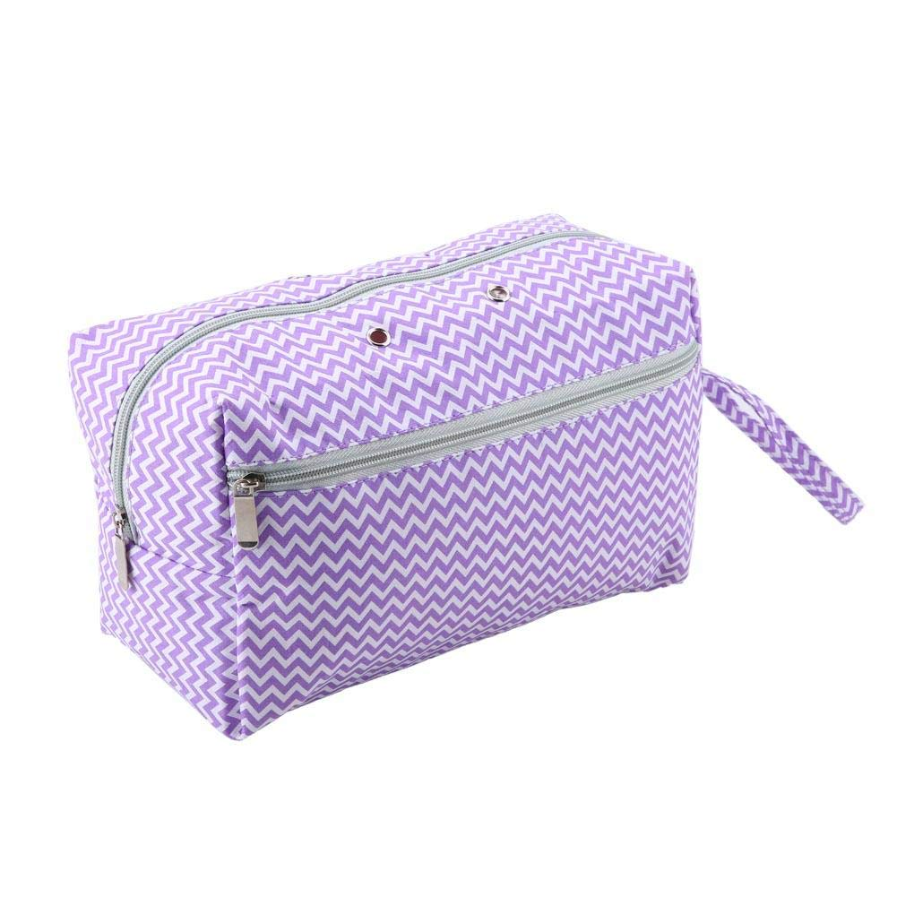 Knitting Yarn Storage Bag Crochet Hook Sewing Needles Organizer for Unfinished Projects Knitting Tools Accessories (Purple)(Large)