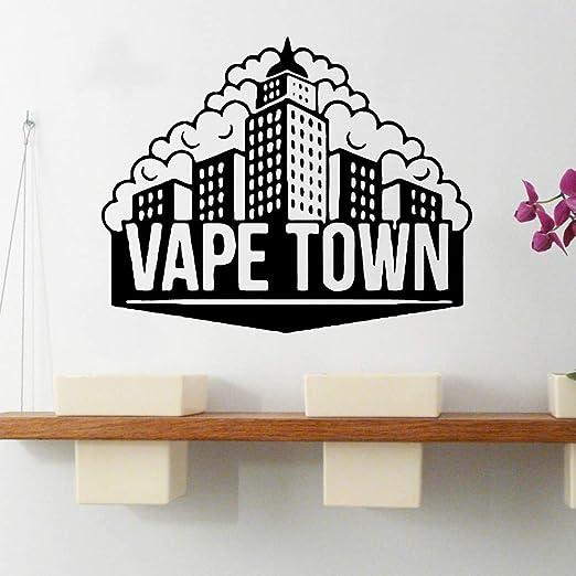 zhuziji Cartoon Vape Town Wall Stickers Art Wallpaper para ...