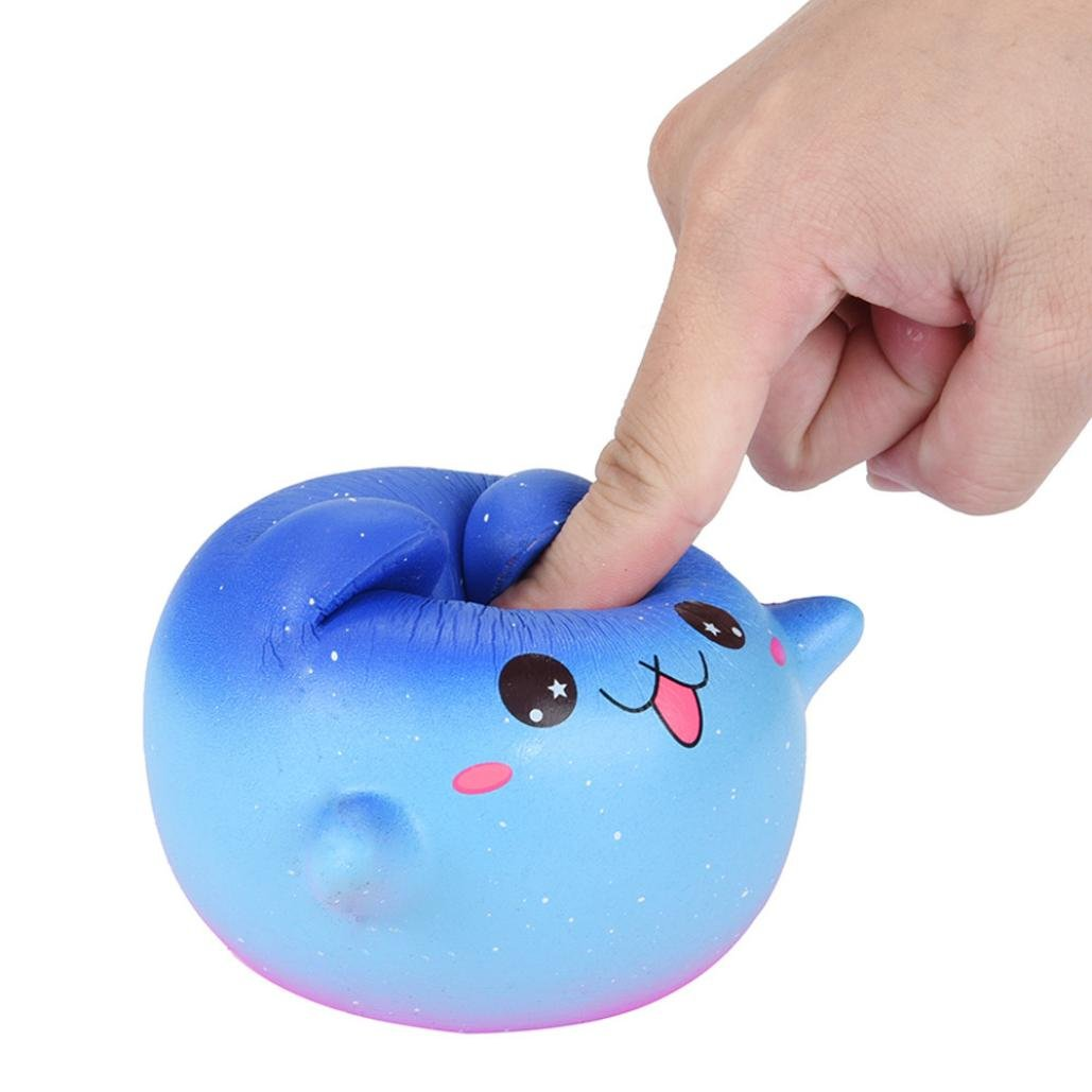 Cartoon Galaxy Kitty - Franterd Stress Reliever Kawaii Toy - Scented Slow Rising Squishy Simulation Gift - Kids &Adults Decompression Squeeze Toys - Educational Hop Decorative Props Toys by Franterd Toys (Image #6)