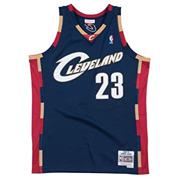 buy popular c11fc 5793b Mitchell & Ness LeBron James #23 Cleveland Cavaliers 2008-09 Swingman NBA  Trikot Navy