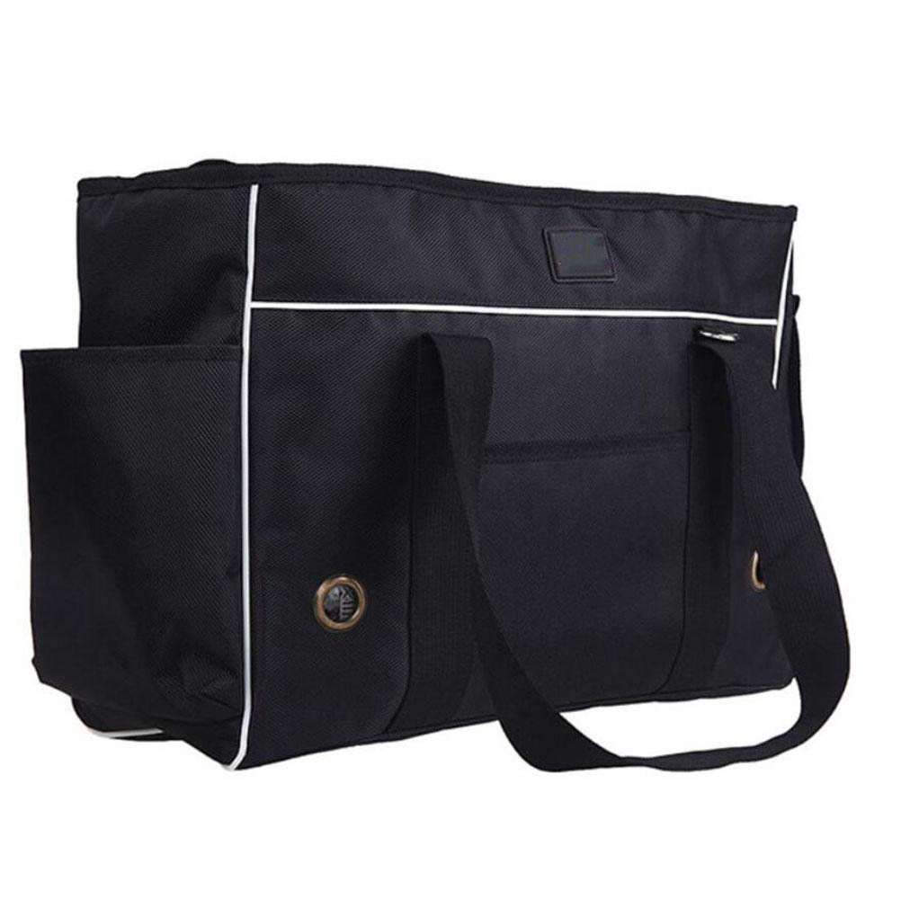 BLACK-M CHWTLB Pet Dogs Cats Carrier Airline Approved Travel Outdoor Bag Portable Dog Purse Soft Comfort Oxford Tote Handbag