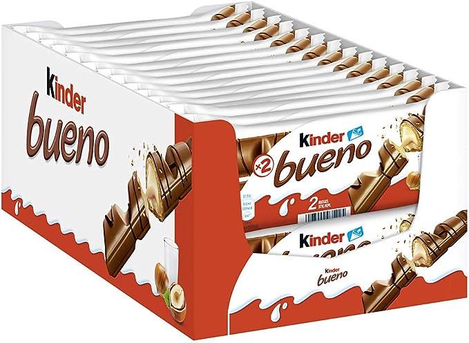Kinder Bueno - Juego de 30 barras de 43 g: Amazon.es: Alimentación ...