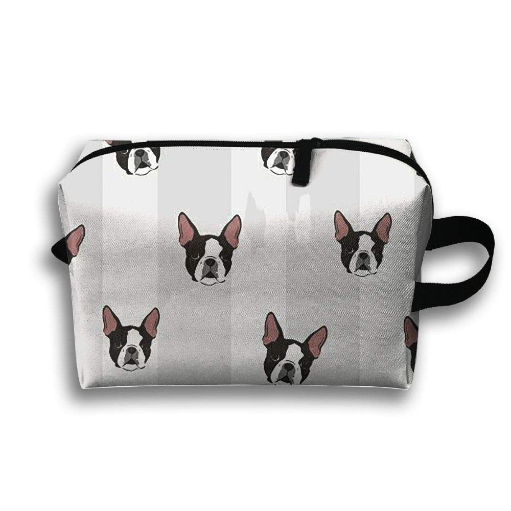 DTW1GjuY French Bulldog Art Digital Cosmetic Bags Stranger Things Makeup Bag With Brush Pouch Portable Zipper Wallet Hangbag Pen For Girl And Woman Necessary