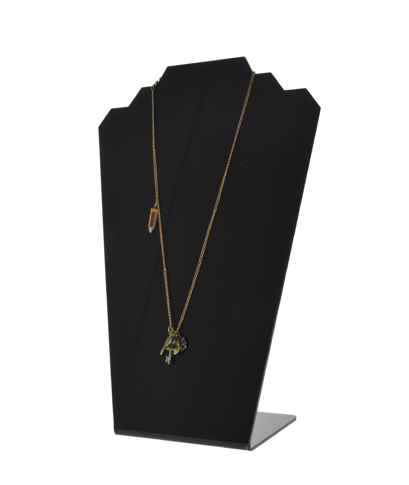 Marketing Holders Slantback Black Acrylic Necklace Holder Display Stand (pack of 24)