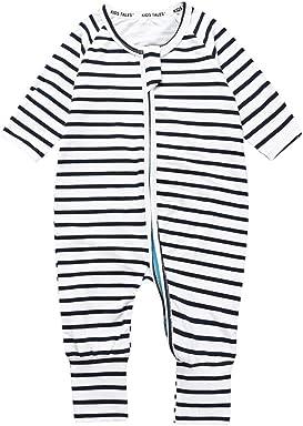 Kids Tales Newborn Baby Striped Footed Handed Pajama Sleeper Zipper Romper d75607aeb