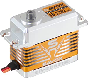 Savox SB-2282SG High Voltage, High Speed, Brushless Motor, Steel Gear, Standard Size Digital Servo (0.075/319.4)