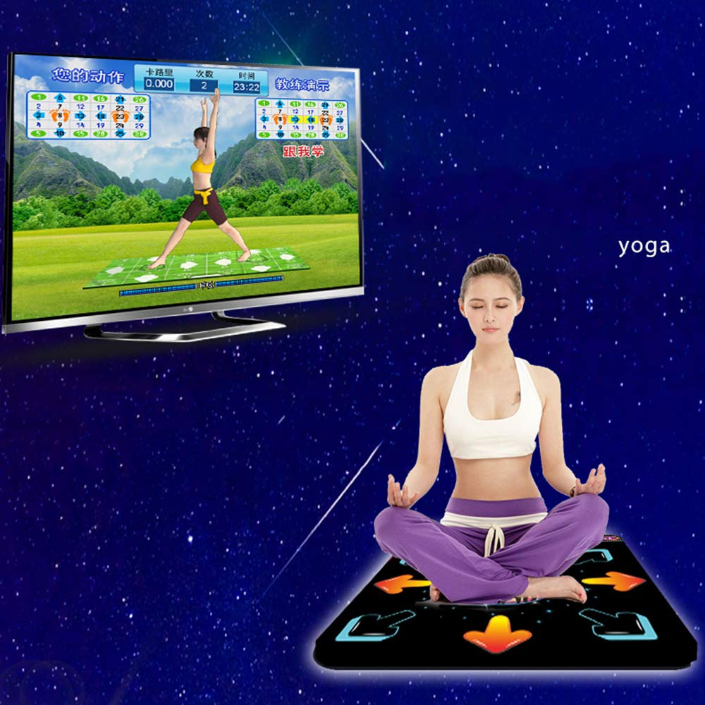 Dance mat Non-Slip Somatosensory Dance Machine Yoga Touch Sensitive PVC+ Environmentally Friendly Silicone Material, Tv Computer Dual Purpose, Unlimited Update by Dance mat (Image #2)
