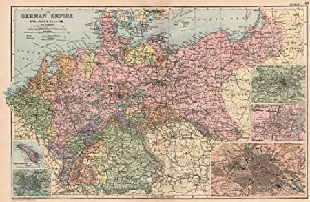 Map Of Germany And Holland.Germany Holland Belgium Berlin Heligoland Hamburg Metz Strasbourg