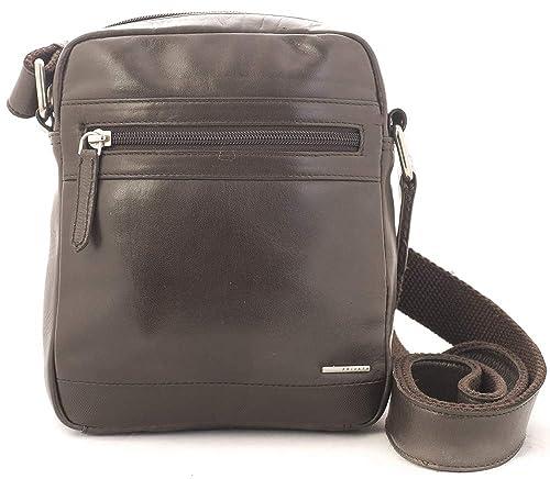Privata bolso bandolera piel vacuno color marrón: Amazon.es