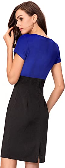 Women's Business Bodycon Wear to Work Pencil Fitted Dress
