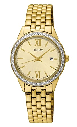 détaillant en ligne 714ef cde75 Seiko Femme Analogique Quartz Montre avec Bracelet en Acier Inoxydable