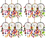 Set of 12 - Odishabazaar Multi Dream Catcher Wall Hanging - Attract Positive Dreams