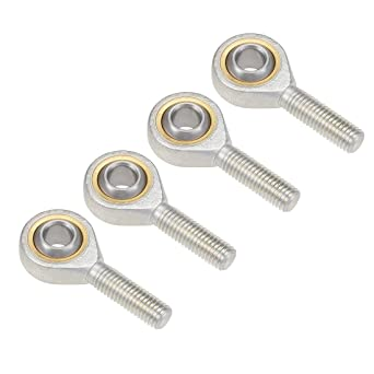 uxcell 10mm Rod End Bearing M10x1.5mm Rod Ends Ball Joint Male Left Hand Thread 4pcs