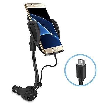 Te-Rich Auto Soporte Coche Cargador con USB Integrado Navi ...