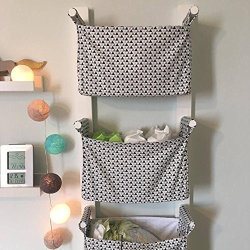 Nursery Hanging Storage Bins   Kids Room Storage Nursery Bins   Diaper  Caddy Wall Organizer