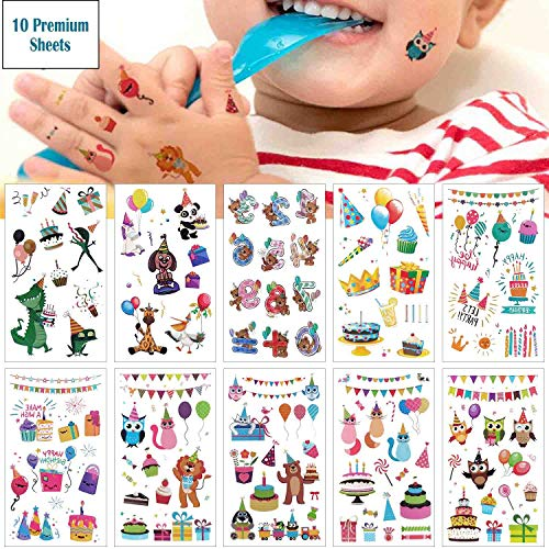 COKOHAPPY Kids Tattoos Birthday Party Temporary Tattoos Carnival Sticker for Boys Girls Children's Big Top/Circus Bag Filler Gift Idea Party Favors, 10 Sheets, 100+ Clown Animal Kids Tattoos (Best Knuckle Tattoo Ideas)
