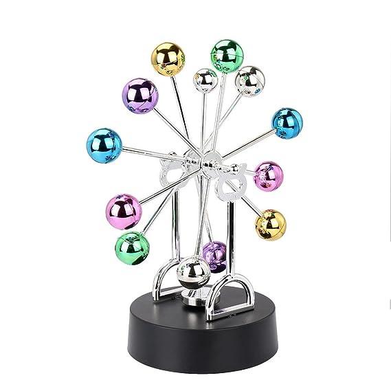 26acb7b61e4 Rawdah Elettronico Perpetuo Movimento Scrivania Giocattolo Girevole Balance  Balls Giocattolo di scienze fisiche Revolving Balance Balls Physics Science  Toy ...