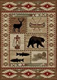 Rugs of Dalton AD6798-0508 River Camp Rug, 5′ x 8′, Multi Review