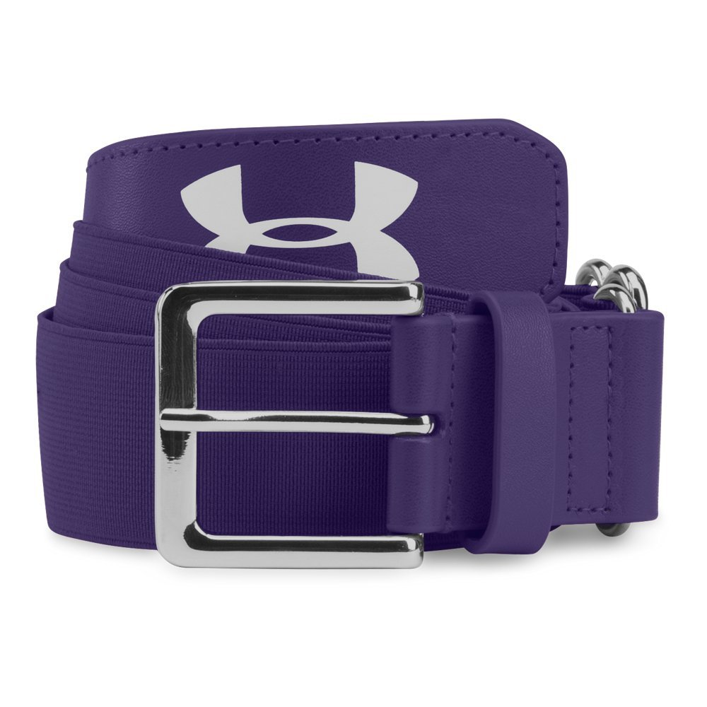 Under Armour Mens Baseball Belt, Purple/Purple, One