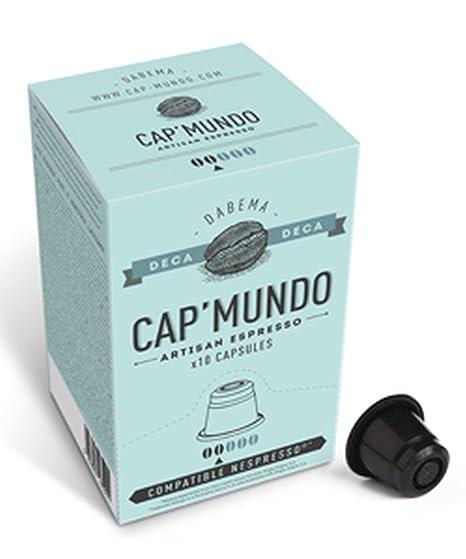 Cap Mundo DABEMA 10 cápsulas de café descafeinado para cafeteras Nespresso - 100% Arabica