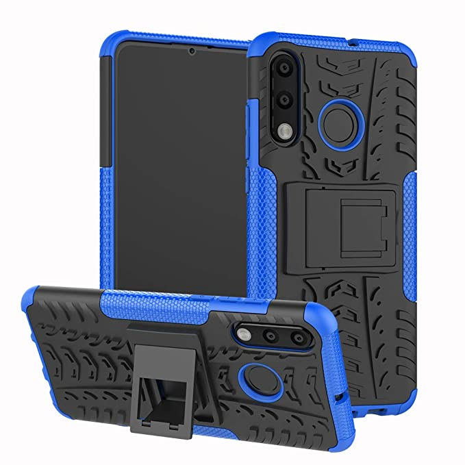 HMTECHUS Huawei P30 Lite Case Heavy Duty Hybrid Tough Rugged Dual Layer Armor Hard PC Shock Protective Absorbing Detachable 2 in 1 with Kickstand ...