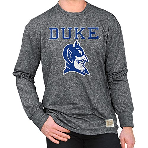 Fan Duke - Elite Fan Shop Duke Blue Devils Retro Long Sleeve Tshirt Charcoal - XL