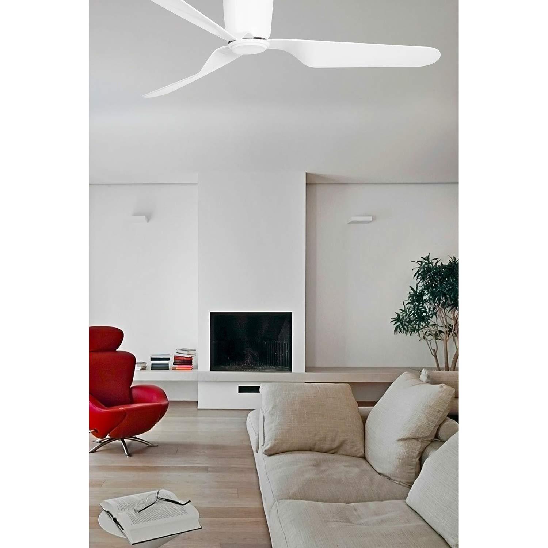 Faro Barcelona 33471N PEMBA Ventilador de techo con luz blanco con motor DC 3 palas reversibles