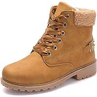 Donna Inverno Pelliccia Stivali da Neve Stringate Scarpe Snow Boots  Caviglia Caldo Stivali Stivaletti Cachi Grigio abf6538521f
