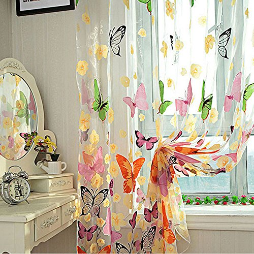 Yueton Butterfly Balcony Curtain Valance
