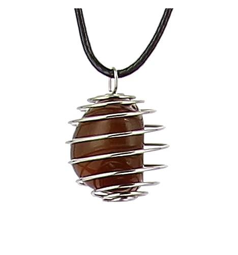 Axstore Market - Collar Piedra Natural de Cornalina con Colgante ...