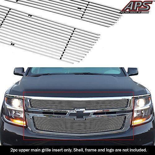 (APS Compatible with 2015-2019 Chevy Suburban Tahoe Main Upper Billet Grille Insert C66320A)
