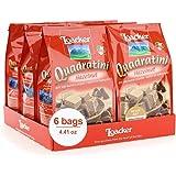 Loacker Quadratini Premium Hazelnut Wafer Cookies, 125g/4.41oz., Pack of 6