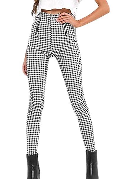 Vepodrau Pantalones Ajustados De Cintura Alta con Cremallera Vintage para  Mujer  Amazon.es  Ropa y accesorios 8d1df5c57e8b