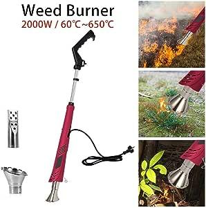 Antorcha de malezas: quemador de malezas, control de malezas sin químicos, herbicida para jardín, vapor de gas, autoencendido, largo alcance, herbicida orgánico, con 2 boquillas: Amazon.es: Hogar