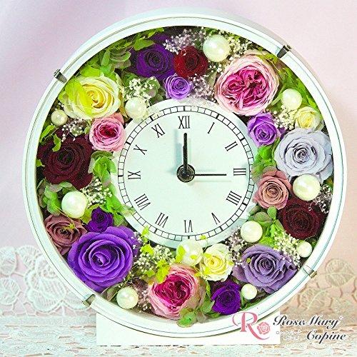 プリザーブドフラワー 時計 フレームアレンジ 花時計 afc-010 B00PZEU5FQ