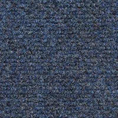 Indoor/Outdoor Carpet with Rubber Marine Backing - Several Sizes Available - Carpet Flooring for Patio, Porch, Deck, Boat, Basement or Garage - Blue
