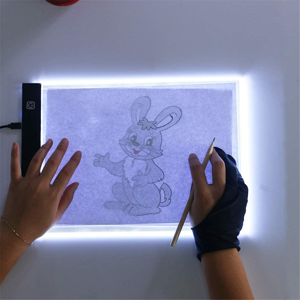 Diamond Painting Adjustable Brightness Animation A4 Light Box Drawing Board Ultra-Thin Artist LED Copy Board Drawing Pad Tracing Table with USB Cable for Sketching Copy