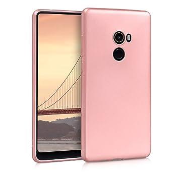 kwmobile Funda para Xiaomi Mi Mix 2 - Carcasa para móvil en [TPU Silicona] - Protector [Trasero] en [Oro Rosa Metalizado]
