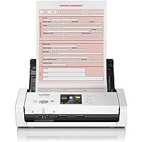 Brother ADS-1700W - Escáner departamental Compacto y Potente (hasta 25hpm, resolución óptica hasta 600 x 600 PPP, Ranura…