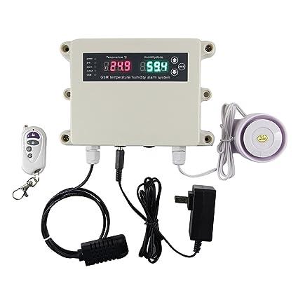 Real-time SOAN temperatura y humedad Monitor sistema de alarma con marcador y retroalimentación SMS