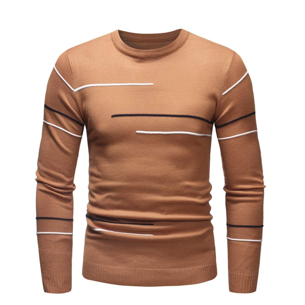 Yutao Mens Fashion Sweater Novelty Pattern Pullover Slim Fit Jumper Knitwear Outwear Blouse